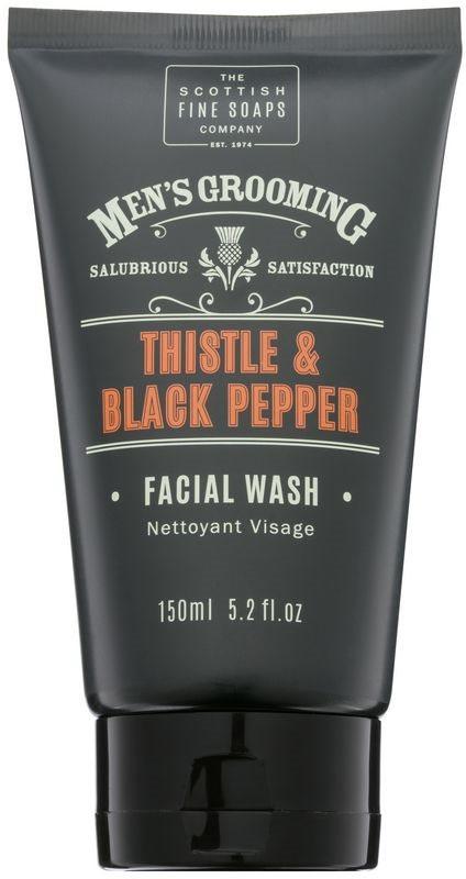 Scottish Fine Soaps Men's Grooming Thistle & Black Pepper mycí gel  na obličej