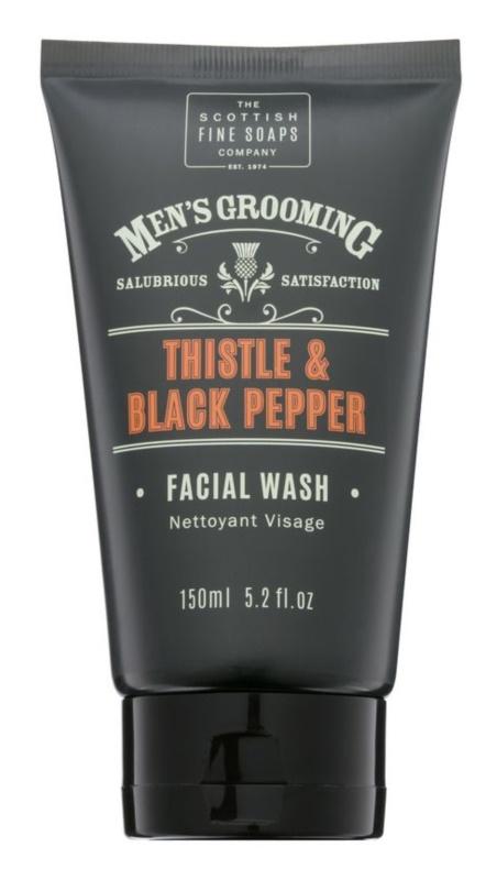 Scottish Fine Soaps Men's Grooming Thistle & Black Pepper umývací gél na tvár