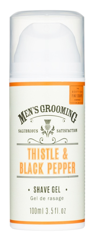 Scottish Fine Soaps Men's Grooming Thistle & Black Pepper gel za britje