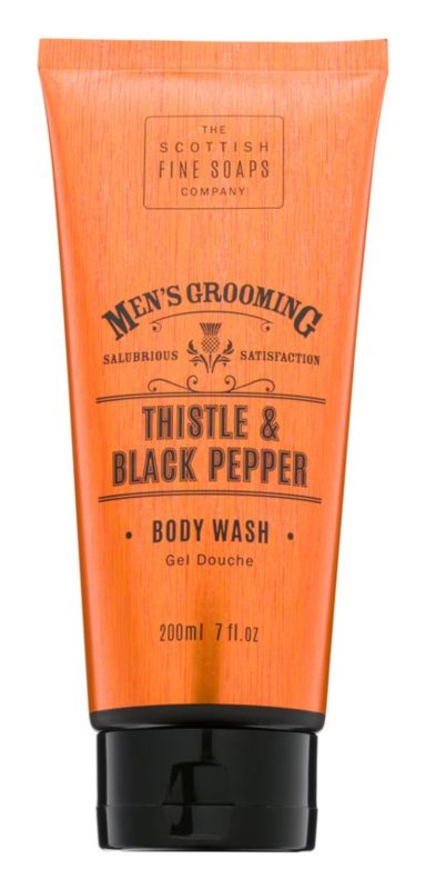 Scottish Fine Soaps Men's Grooming Thistle & Black Pepper gel za prhanje