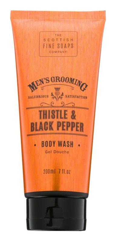 Scottish Fine Soaps Men's Grooming Thistle & Black Pepper Shower Gel