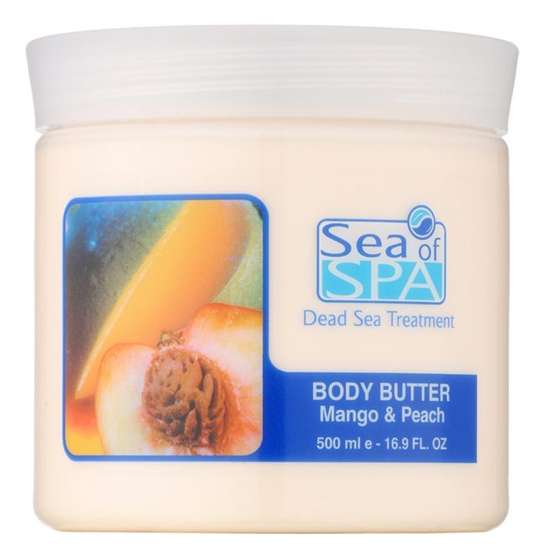 Sea of Spa Dead Sea Treatment tělové máslo s mangem a broskví