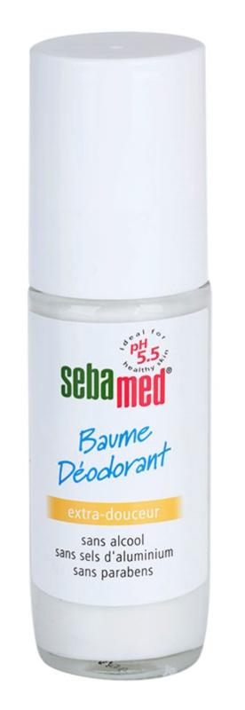 Sebamed Body Care делікатний кульковий дезодорант-бальзам для чутливої шкіри після депіляції