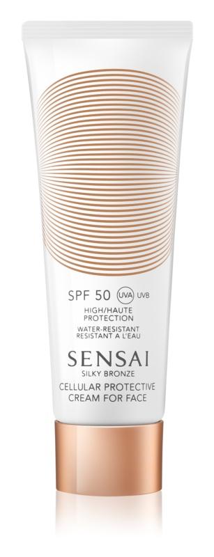 Sensai Silky Bronze protivráskový krém na opaľovanie SPF 50
