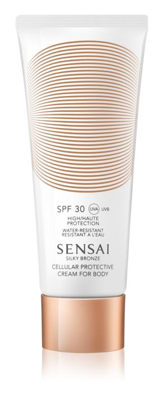 Sensai Silky Bronze крем для засмаги проти старіння шкіри SPF 30