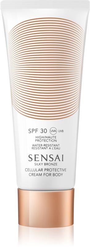 Sensai Silky Bronze opaľovací krém proti starnutiu pokožky SPF 30