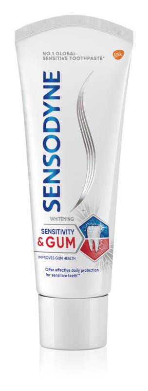 Sensodyne Sensitivity & Gum Whitening Whitening Toothpaste For Protection Of Teeth And Gums