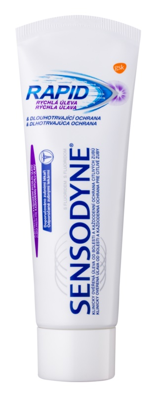 Sensodyne Rapid dentífrico com flúor para dentes sensíveis