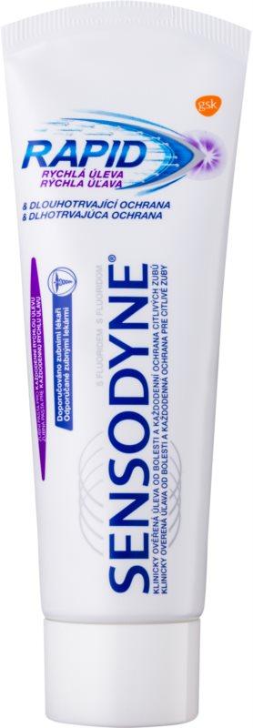 Sensodyne Rapid zobna pasta s fluoridom za občutljive zobe