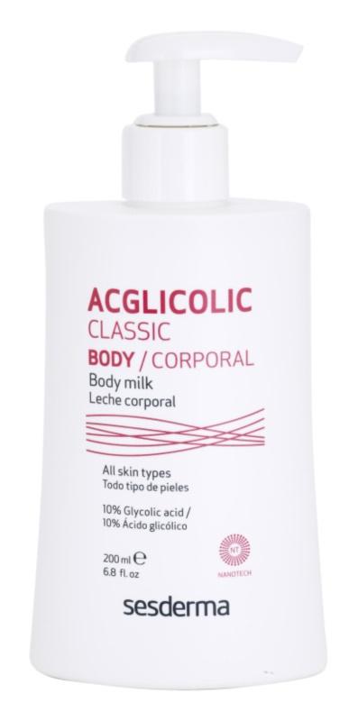 Sesderma Acglicolic Classic Body Festigende Körpermilch mit Peelingeffekt