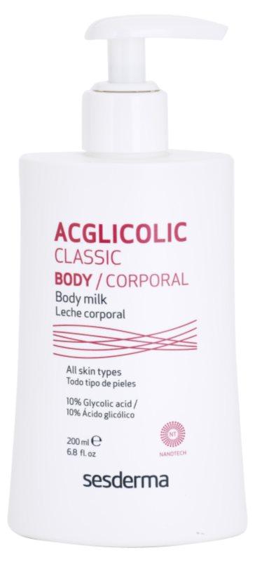 Sesderma Acglicolic Classic Body telové mlieko spevňujúce s peelingovým efektom