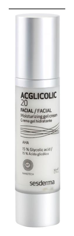 Sesderma Acglicolic 20 Facial obnovující hydratační gelový krém pro smíšenou pleť