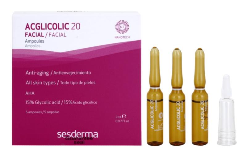 Sesderma Acglicolic 20 Facial protivráskové sérum s peelingovým efektom
