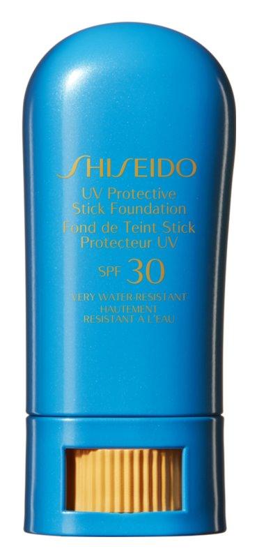 Shiseido Sun Care Foundation водоустойчив защитен фон дьо тен в стик SPF 30