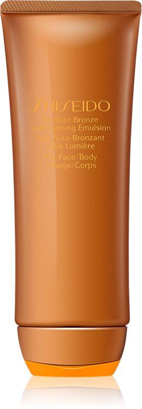 Shiseido Sun Care Brilliant Bronze Self-Tanning Emulsion emulsão autobronzeadora para corpo e rosto