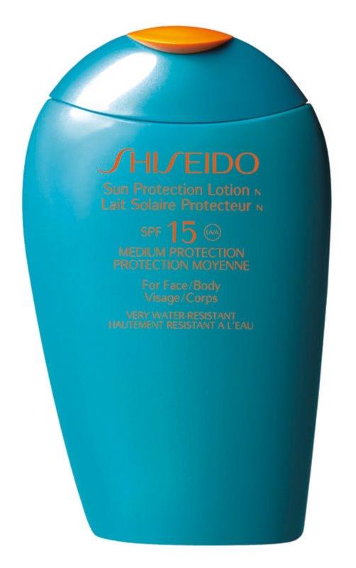 Shiseido Sun Care Protection leite solar de rosto e corpo SPF 15