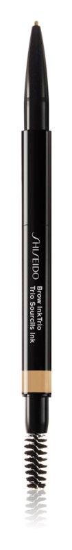 Shiseido Makeup InkTrio олівець та пудра для брів з аплікатором