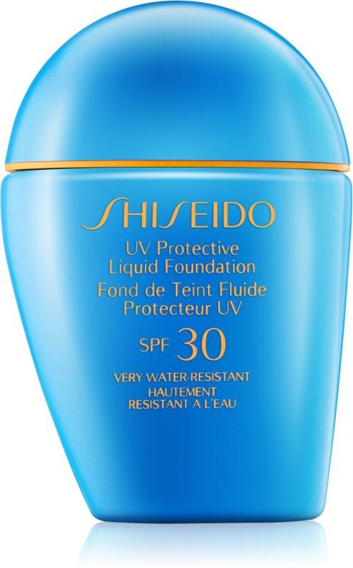 Shiseido Sun Foundation водостійкий  рідкий тональний крем SPF 30