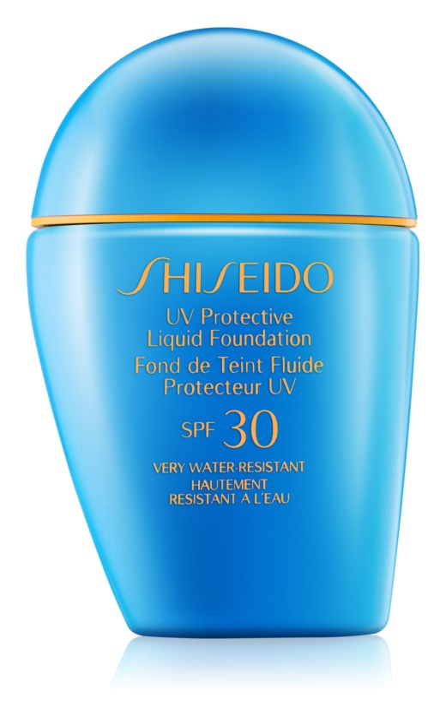 Shiseido Sun Foundation водостійкий  рідкий тональний крем SPF30