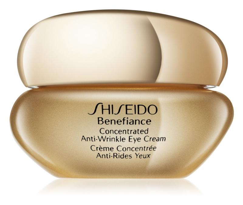 Shiseido Benefiance Concentrated Anti-Wrinkle Eye Cream očný krém proti opuchom a vráskam