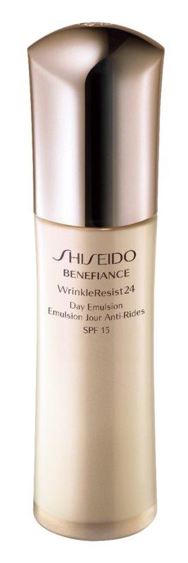 Shiseido Benefiance WrinkleResist24 Day Emulsion SPF15 emulsión antiarrugas SPF 15