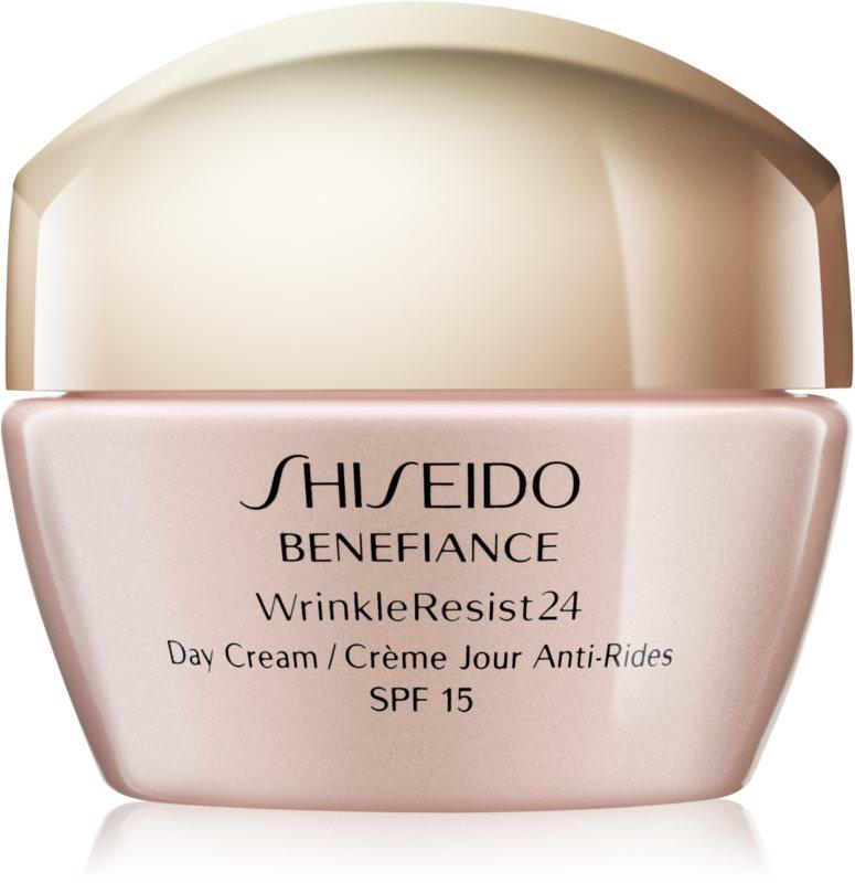 Shiseido Benefiance WrinkleResist24 Day Cream SPF15 Tagescreme gegen Falten LSF 15