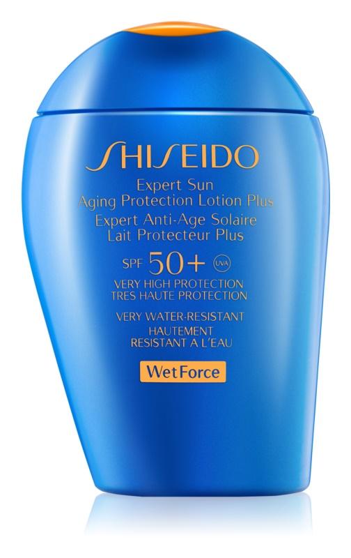 Shiseido Sun Protection Sonnenlotion für Gesicht und Körper SPF 50+