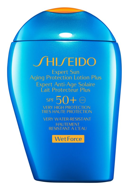 Shiseido Sun Care Protection Aging Protection Lotion Plus for Face and Body SPF 50+