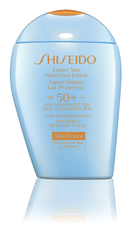 Shiseido Sun Care Expert Sun Protection Lotion WetForce SPF50+ For Sensitive Skin & Children Protetor solar à prova de água SPF 50+