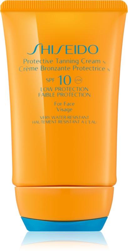Shiseido Sun Protection крем для обличчя для засмаги SPF 10