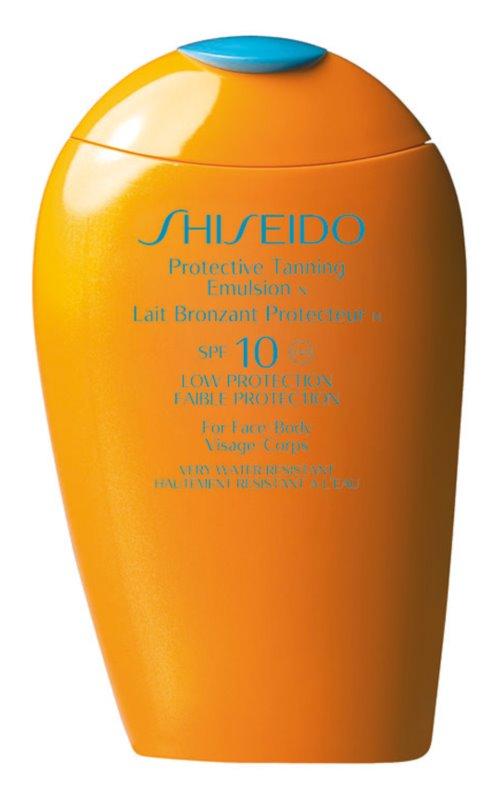 Shiseido Sun Care Protective Tanning Emulsion SPF10 emulsione abbronzante SPF 10