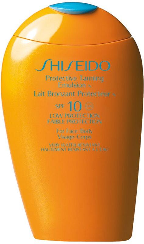 Shiseido Sun Care Protective Tanning Emulsion SPF10 lotiune pentru bronzat SPF 10