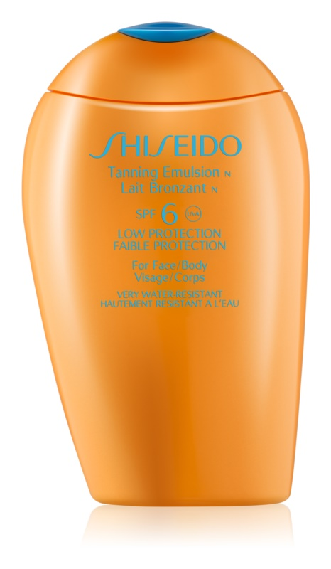 Shiseido Sun Protection Tanning Emulsion for Face and Body SPF 6