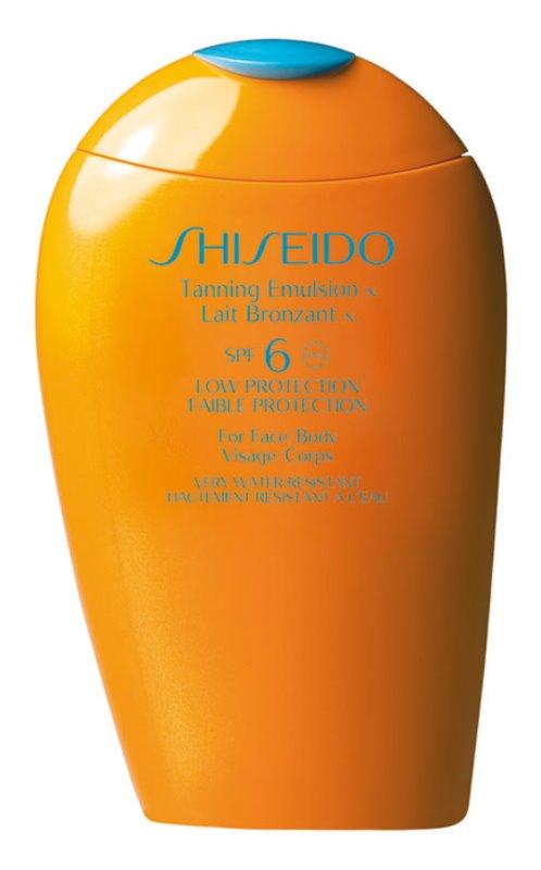 Shiseido Sun Care Tanning Emulsion SPF6 lotiune pentru bronzat SPF 6
