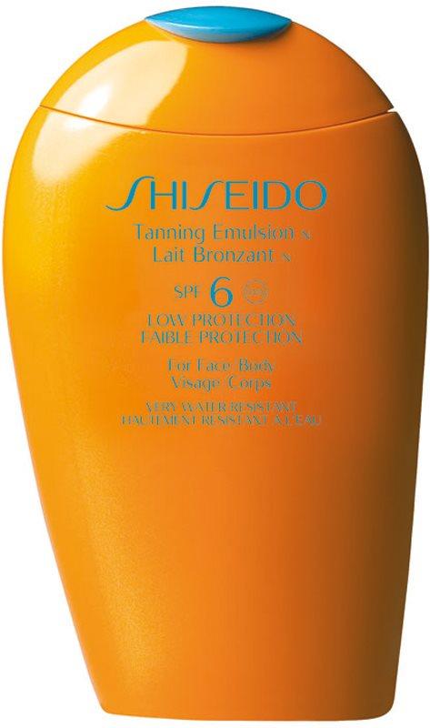 Shiseido Sun Care Tanning Emulsion SPF6 Tanning Emulsion for Face and Body SPF 6