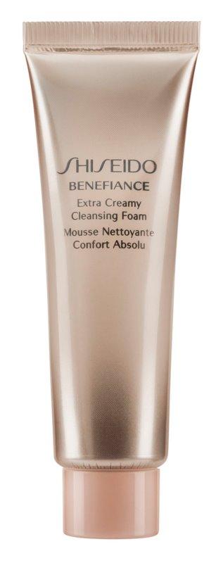 Shiseido Benefiance WrinkleResist24 Extra Creamy Cleansing Foam espuma limpiadora suave con efecto humectante