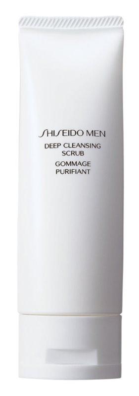 Shiseido Men Deep Cleansing Scrub exfoliante facial limpiador  para hombre