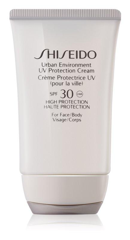 Shiseido Sun Urban Environment ochranný krém na obličej a tělo SPF 30