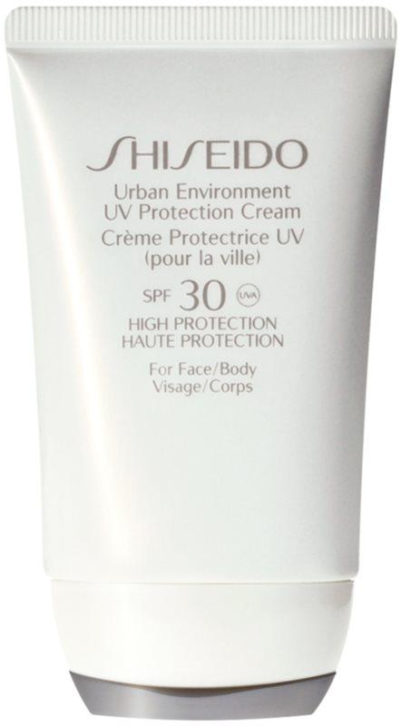 Shiseido Sun Care Urban Environment UV Protection Cream SPF 30 ochranný krém na tvár a telo SPF 30