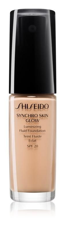 Shiseido Makeup Synchro Skin Glow Luminizing Fluid Foundation posvjetljujući puder SPF 20