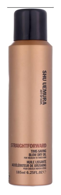 Shu Uemura Straightforward olejový sprej na vlasy pro rychlejší foukanou