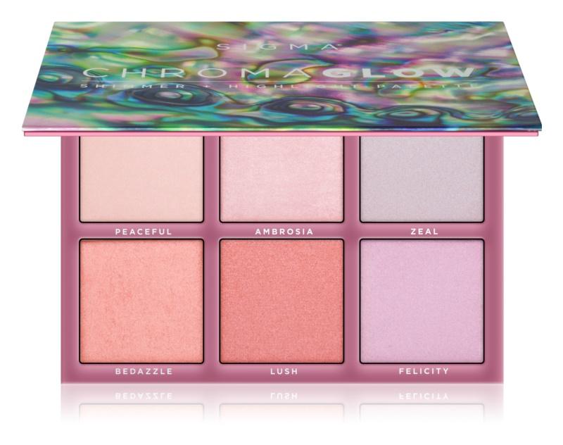Sigma Beauty Chroma Glow paleta rozjasňovačov