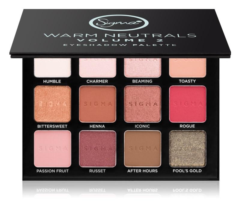 Sigma Beauty Warm Neutrals palette di ombretti