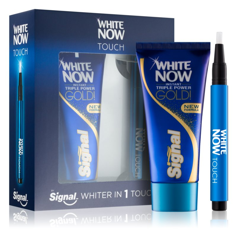 Signal White Now Triple Power Gold Cosmetic Set I.