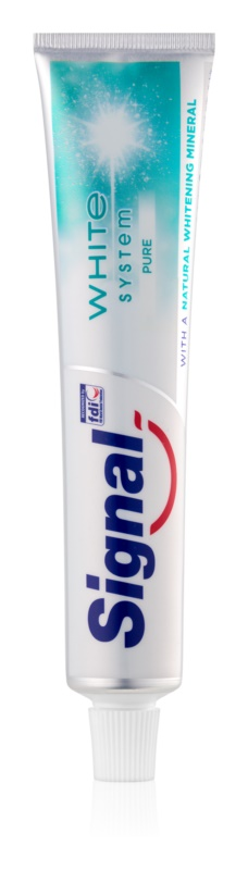 Signal White System Pure bleichende Zahnpasta