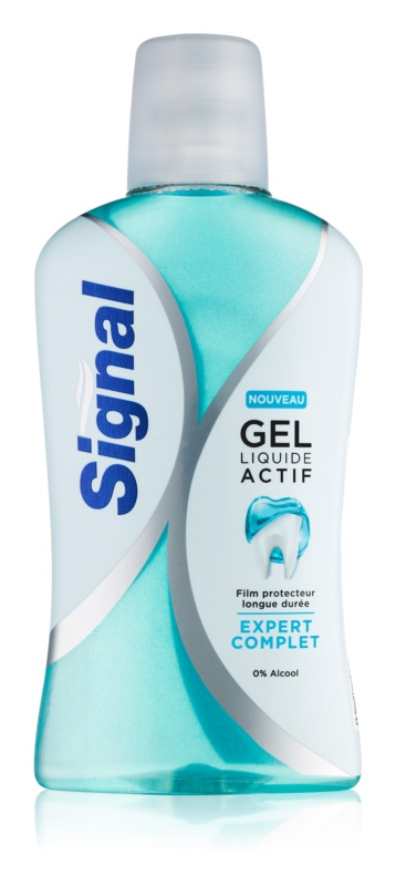 Signal Gel Liquide Actif Complete-Care Protective Anticavity Mouthwash for Fresh Breath without Alcohol