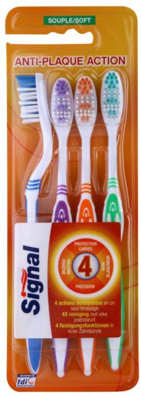 Signal Anti-Plaque Action četkice za zube sift 4 kom