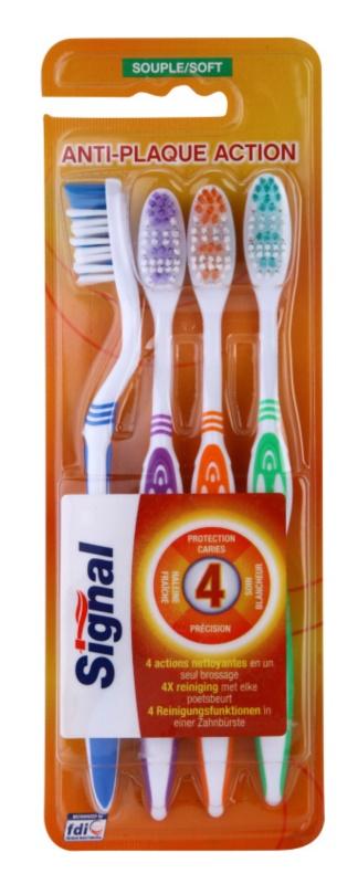 Signal Anti-Plaque Action Zahnbürsten soft 4 Stk.