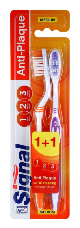 Signal Anti-Plaque Zahnbürste Medium 2 pc