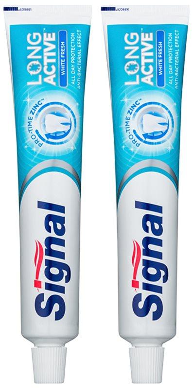 Signal Long Active White Fresh wybielająca pasta do zębów -  świeży oddech podwójne